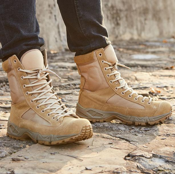 Outdoor Leather Tactical Boots Combat