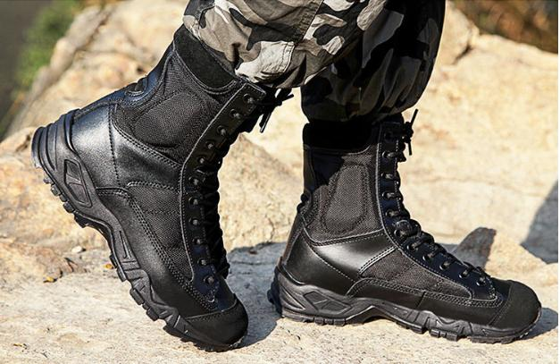 Outdoor Mens Leather Boots Military Combat SWAT Hiking