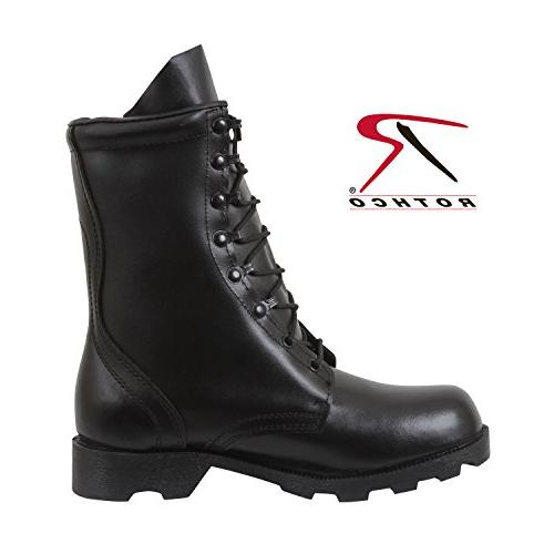 ROTHCO LEATHER COMBAT BOOT / - BLK