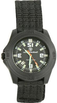 Smith & Wesson Soldier Watch Black nylon wrist strap. Tritiu