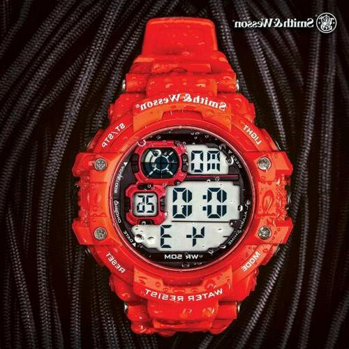 Digital Watch Modes, Chronograph, Red