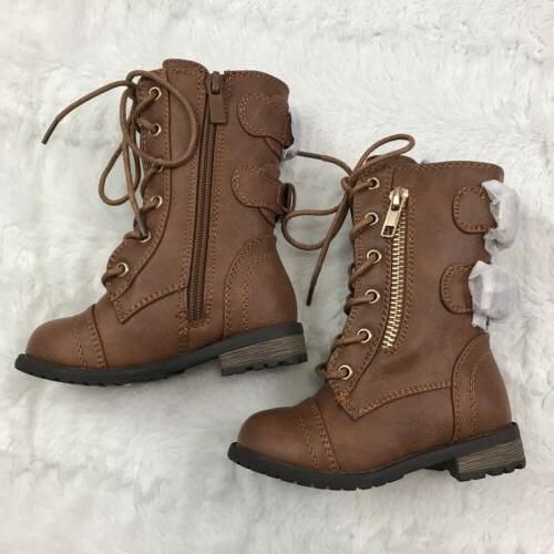 Link Girls Boots Size Lace Buckles In Back