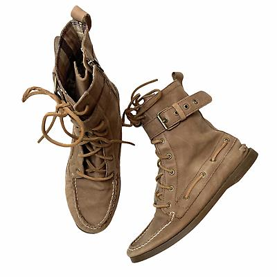 top sider starpoint lace up leather combat