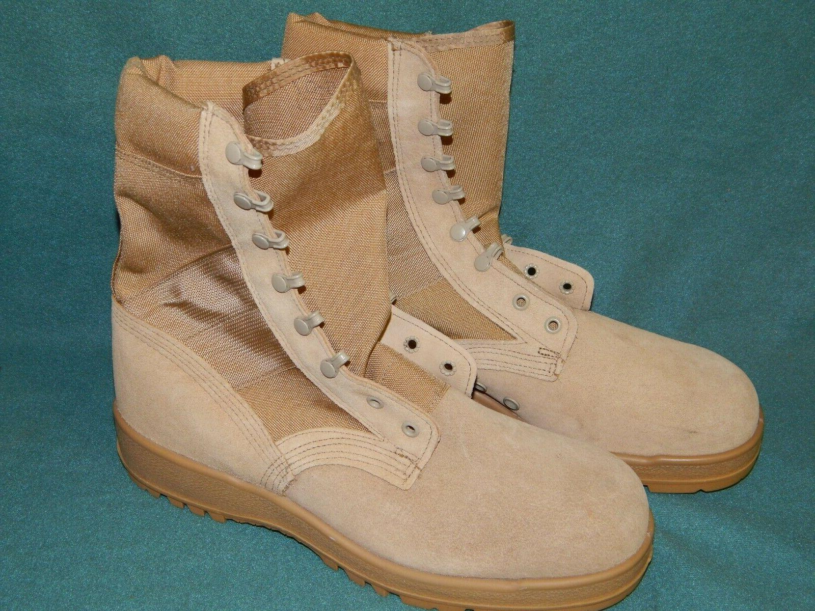 US Army Desert Tan Combat Boots Vibram Soles  Hot Weather Si