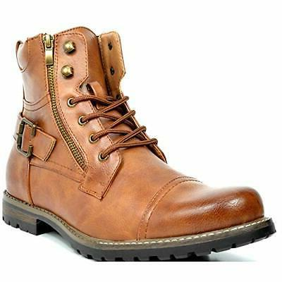 men military motorcycle combat riding ankle leather