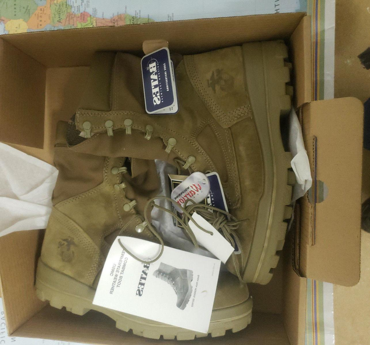 usmc temperate weather combat boots size 10w
