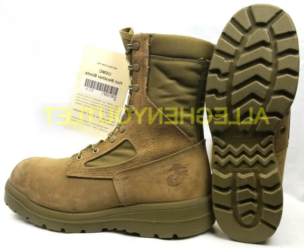 USMC US WEATHER BOOTS Soles Coyote USA Made NEW