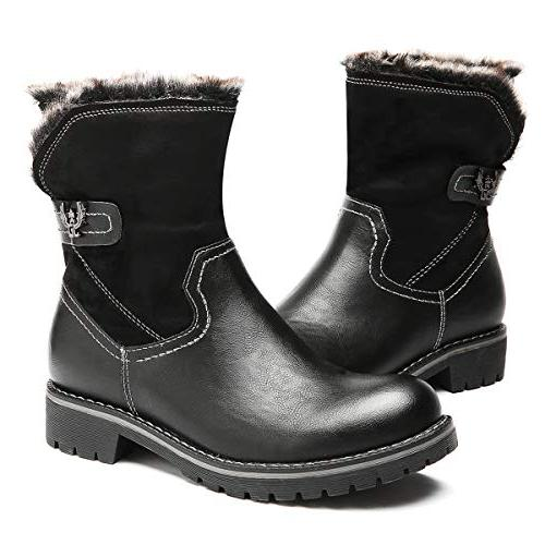 winter snow boots fur lined