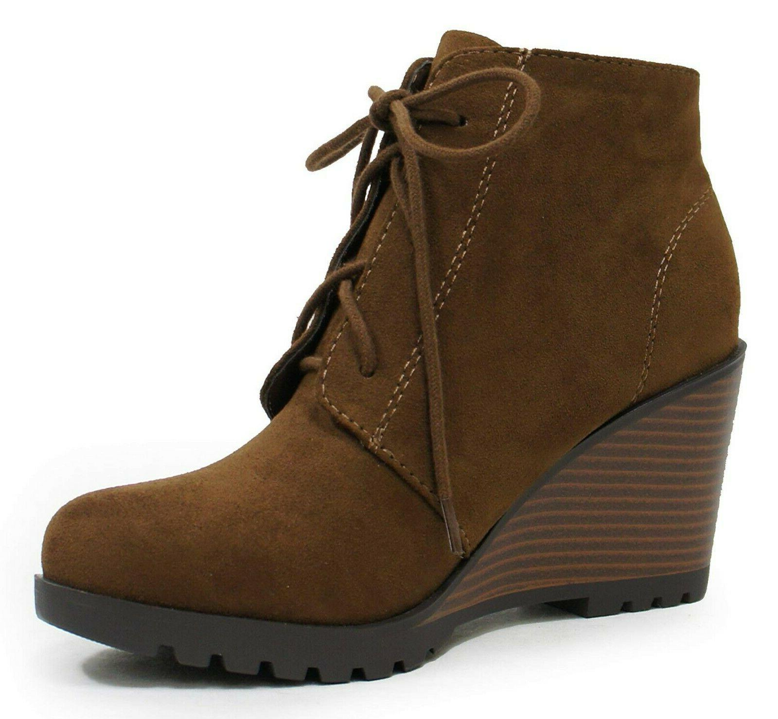 women ankle boots lace up combat booties