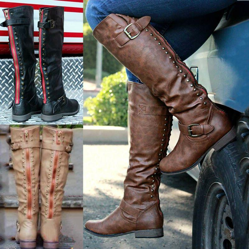 Women Boots Winter Calf Ladies Mid / Over The Knee High Calf Boots