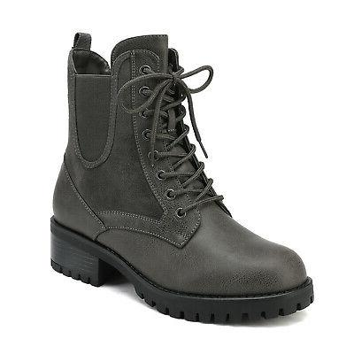 DREAM Combat Ankle Heel Military Boots