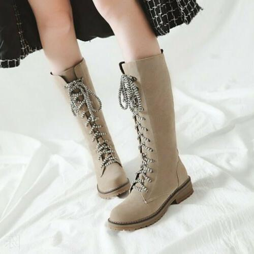 Women Mid Knight Boots Heel Shoes