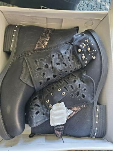 LALA Women Motorcycle Boots Ankle Boots EUR 40
