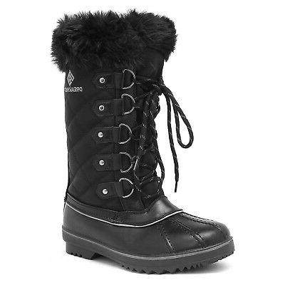 DREAM PAIRS Womens Boots Waterproof Mid Hiking Snow Boots