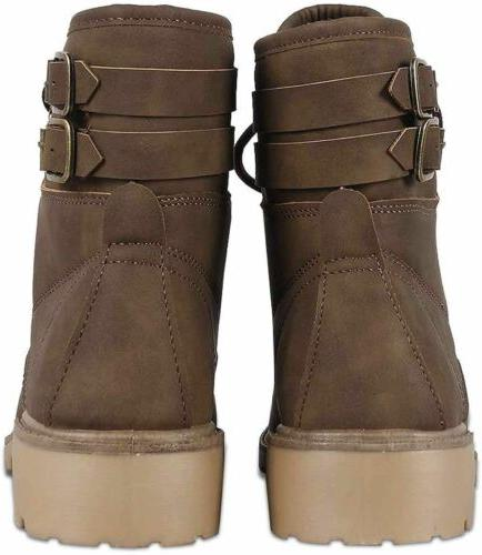 Women's Combat Army Boots Lace Heel Boots