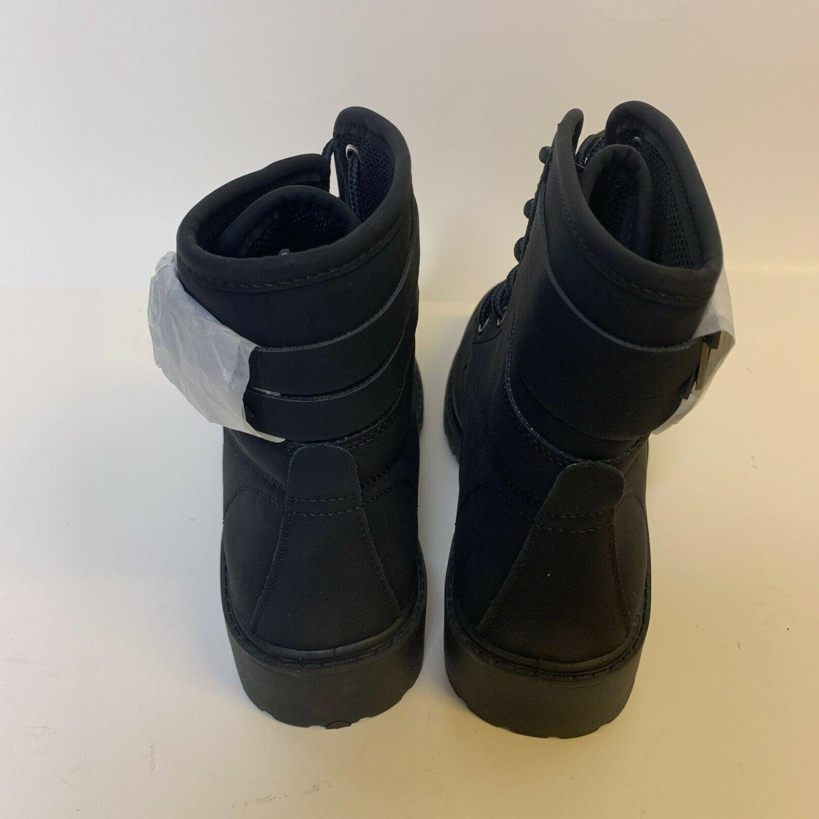 Forever Link Boots Whitney-26 Black Combat Military Style sz 9 NEW