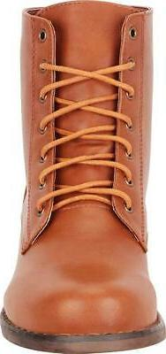 Cambridge Select Women's Lace-Up Heel Combat Boot