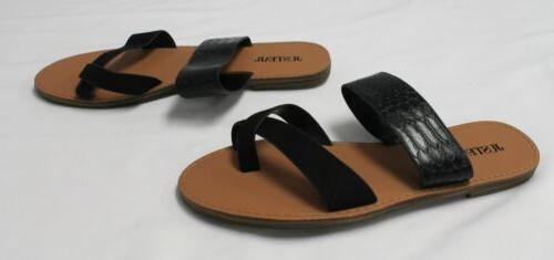 JustFab Slide Sandals Onyx Size US:7