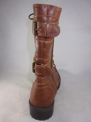 Combat Boots Mid Casual Zip/Lace Up