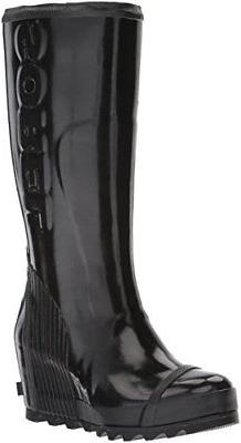 women s joan rain wedge tall gloss