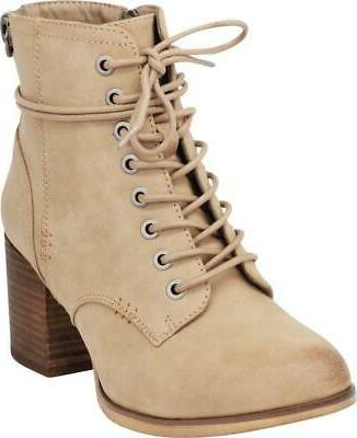 Cambridge Select Combat Chunky Heel Ankle