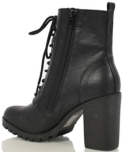SODA Faux Leather Ankle Boot, M