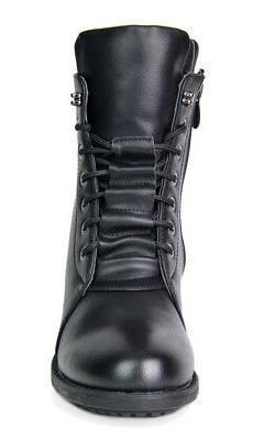 DREAM PAIRS Mid Calf Pull-On Military Ankle Riding Combat Boots