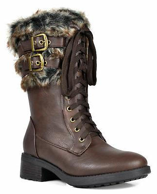 DREAM Military Mid Calf Riding Winter Boots