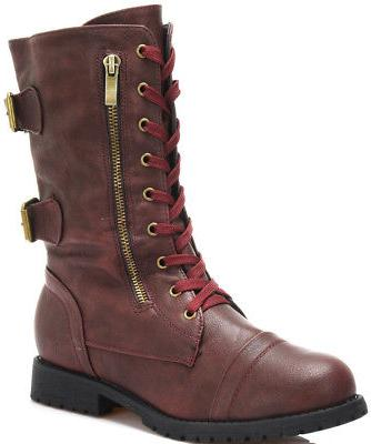 DREAM PAIRS Women's Lace up Combat Boots