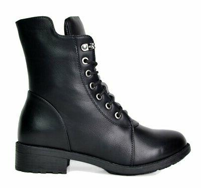 Black Mid Calf Military Combat Size M