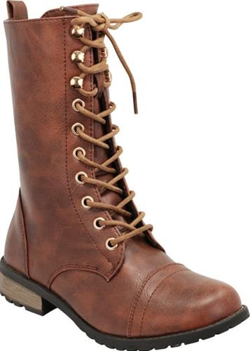 women s round toe lace up low