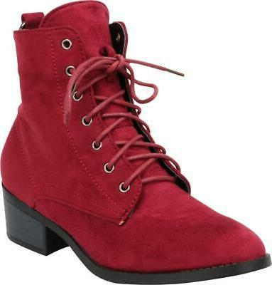 Cambridge Toe Lace-Up O-Ring Heel Ankle Boot