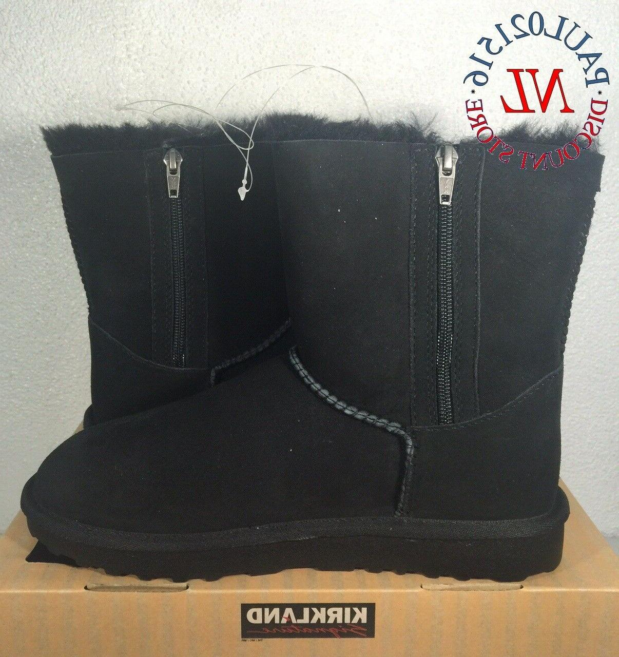 women s shearling zipper boots black various