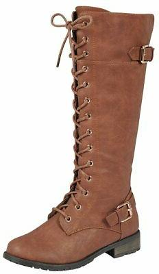 Forever Women's Lace-Up High Stacked