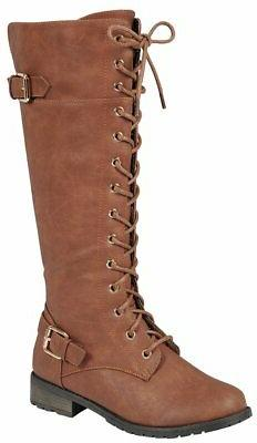 Forever Link Women's Lace-Up High Stacked