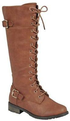 Forever Women's Strappy Lace-Up High Stacked