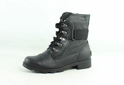 womens conquest black combat boots size 5