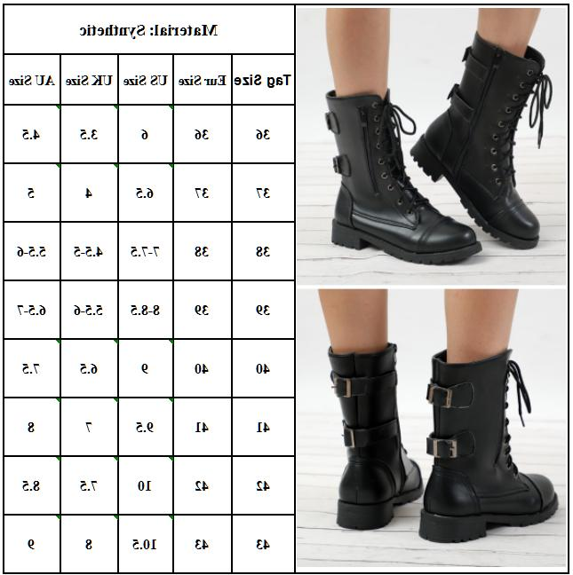 Womens Ankle Winter Mid Combat Shoes