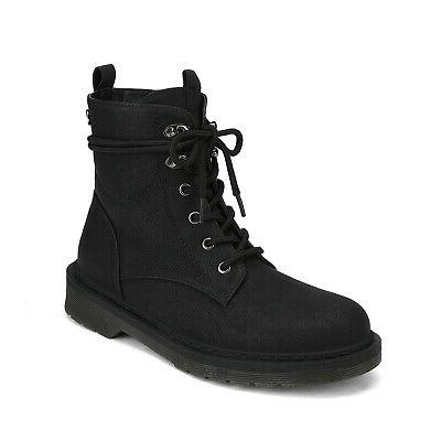 DREAM PAIRS Combat Booties Round Shoes