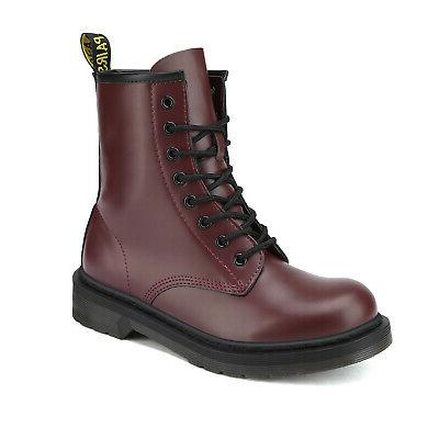DREAM Womens Military Combat Ankle Lace Up Boots