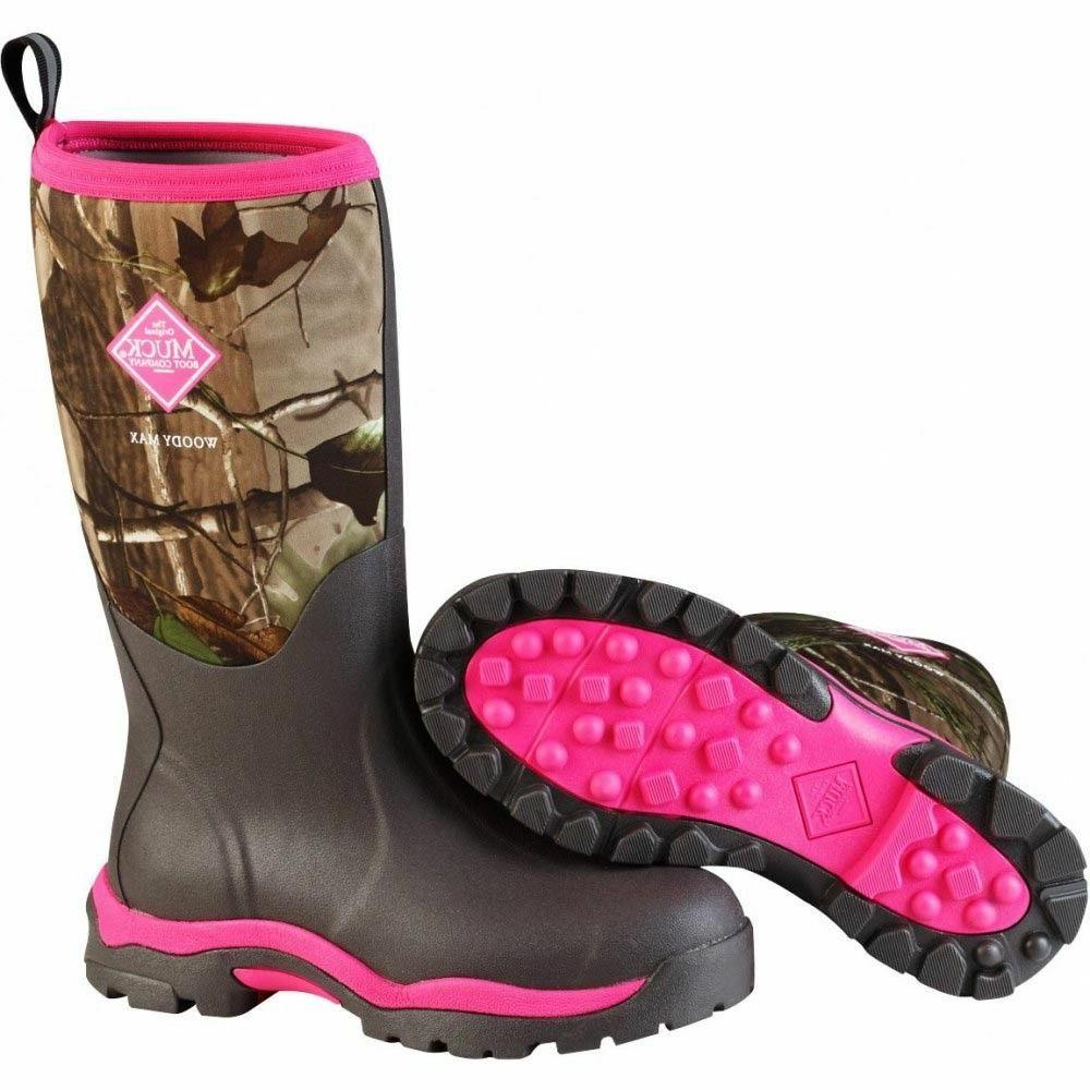 Muck Boots Womens Woody PK Winter Hunting Camo Pink Br WWPK-