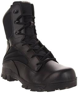 Bates Men's 8 Inch Leather Nylon Side Zip Uniform Boot, Blac