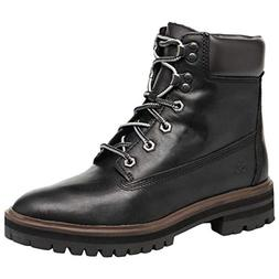 Timberland Womens London Square 6 Leather Jet Black Boots 7