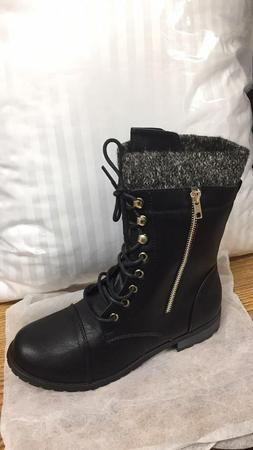 Forever Link Mango-31 Military Lace up Knit Ankle Cuff Comba