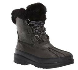 Sperry Maritime Leather Winter Boots Black - NEW