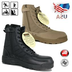 Men Army Military Duty Work Boots Forced Entry Tactical Depl