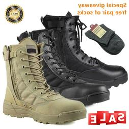 men military duty work boots forced entry