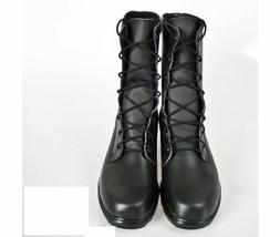 MEN MILITARY LACE UP COMBAT PURE SOFT LEATHER LONG BOOTS CUS
