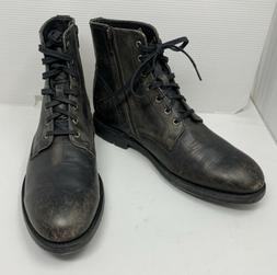 FRYE Men's Bowery Lace Up Combat Casual Dress Boot, Black, S