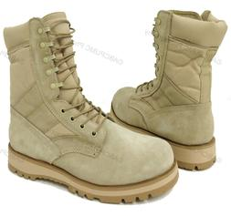 "Men's Desert Boots GI Type Tan 10"" Tactical Combat Military"